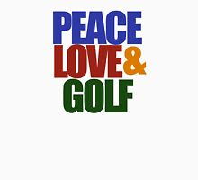 Peace love and GOLF Men's Baseball ¾ T-Shirt