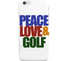 Peace love and GOLF iPhone Case/Skin