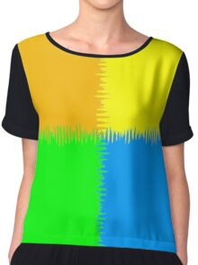 QUARTERS (Orange, Blue, Green & Yellow)-(9000 x 9000 px) Chiffon Top