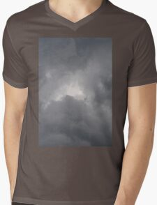 Fluffy stormy clouds. Mens V-Neck T-Shirt