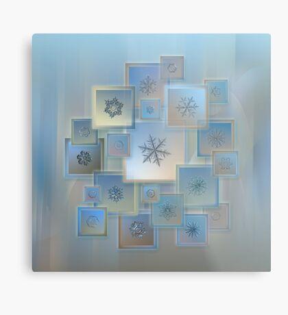 Snowflake collage - Bright crystals 2012-2014 Metal Print