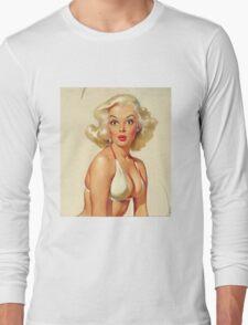 Gil Elvgren Appreciation T-Shirt no. 14. Long Sleeve T-Shirt
