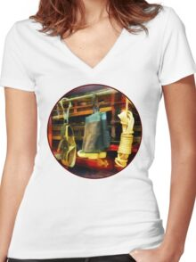 Boots and Fire Gear Women's Fitted V-Neck T-Shirt