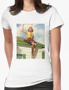 Gil Elvgren Appreciation T-Shirt no. 16. Womens Fitted T-Shirt