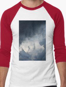 Fluffy stormy clouds. Men's Baseball ¾ T-Shirt