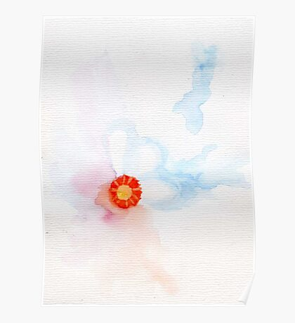subtle flower abstract Poster