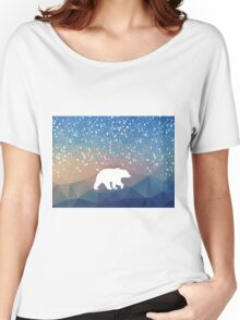 Beary Snowy in Blue Women's Relaxed Fit T-Shirt