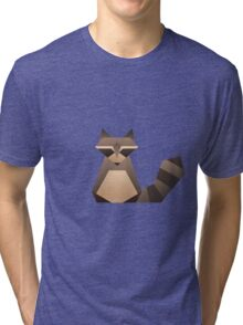 Vector Raccoon  Tri-blend T-Shirt