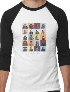 Coenville (w/ black lettering) Men's Baseball ¾ T-Shirt