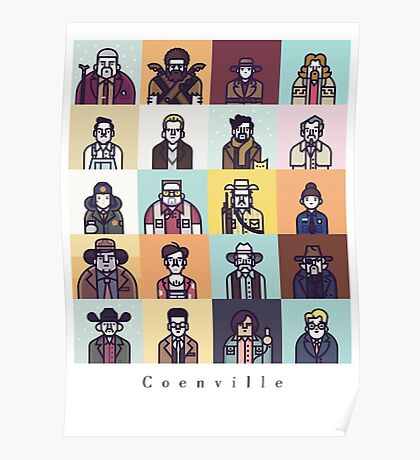 Coenville (w/ black lettering) Poster
