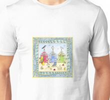 Beach Huts Seaside Holiday Unisex T-Shirt