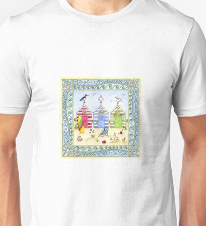 Beach Huts Seaside Holiday Unisex T-Shirt