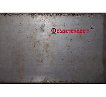 Ono-Sendai Cyberspace 7 - Rusty Steel Background III Photographic Print