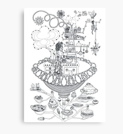 Kitchen - Life in flowers Canvas Print