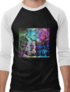 Abstract stencilled pattern  Men's Baseball ¾ T-Shirt