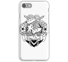 Navy Pinup Lines iPhone Case/Skin