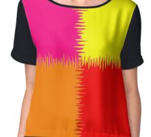 QUARTERS (Red, Orange, Fuchsia & Yellow)-(9000 x 9000 px) Chiffon Top