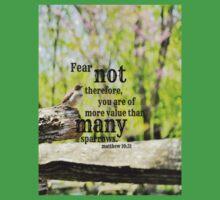 Fear Not Matthew 10 Baby Tee