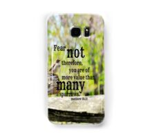Fear Not Matthew 10 Samsung Galaxy Case/Skin