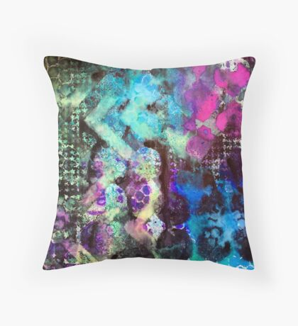 Abstract stencilled pattern  Throw Pillow