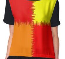 QUARTERS (Reds, Orange & Yellow)-(9000 x 9000 px) Chiffon Top
