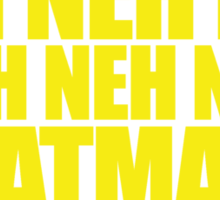 Batman Theme Song Sticker