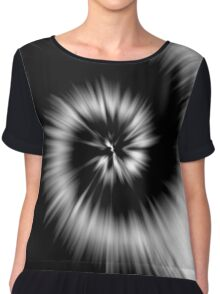 TIE DYE (Black & White)-(8400 x 8400 px) Chiffon Top