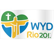 World Youth Day 2013 in Rio logo Poster