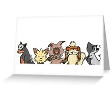 Pokemon Pups Greeting Card