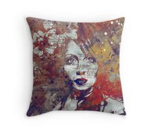 Farewell, Mona Lisa: Autumn Throw Pillow