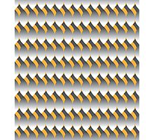 Grey Leaf Pattern Photographic Print