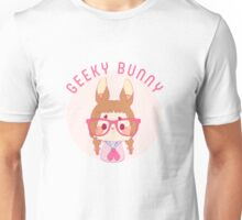 Are you a geeky bunny? Unisex T-Shirt