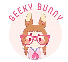 Are you a geeky bunny? Photographic Print