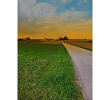 Country road on a summer afternoon | landscape photography Photographic Print
