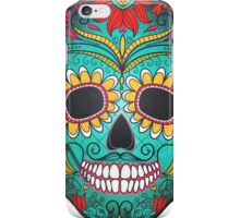 Mexican Skull Sugar Red Moustache iPhone Case/Skin