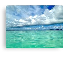 Blue and Green, Tobago Cays, SVG Canvas Print