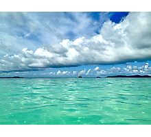 Blue and Green, Tobago Cays, SVG Photographic Print
