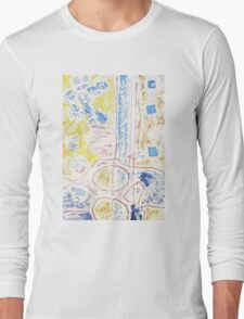 Collagraph Print Long Sleeve T-Shirt