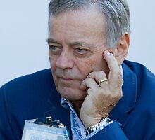 Tony Blackburn at RHS Chelsea Flower Show by Keith Larby