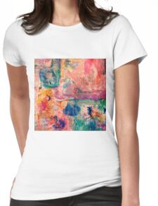 Abstract patchwork #3 Womens Fitted T-Shirt