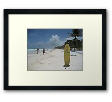 Beach Bar, Tulum, Mexico Framed Print