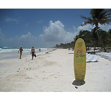 Beach Bar, Tulum, Mexico Photographic Print