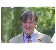 Stephen Fry at RHS Chelsea Flower Show Poster