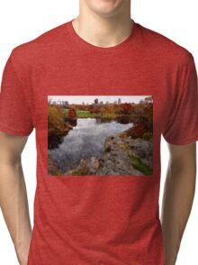 Central Park Water color Tri-blend T-Shirt