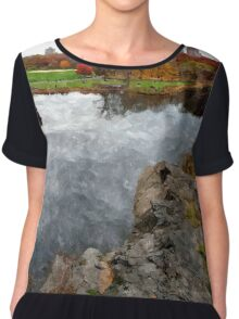 Central Park Water color Chiffon Top