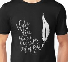 Musical T-shirt - write like you're Running out of time  Unisex T-Shirt