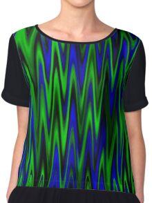 WAVY-1 (Blues & Greens)-(9000 x 9000 px) Chiffon Top