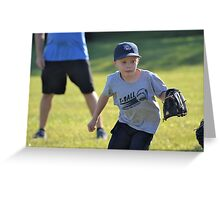 Learning T-Ball Greeting Card
