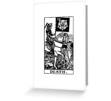 Black and White Death Tarot Card  Greeting Card
