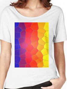 Mosaic tiles in colour. Women's Relaxed Fit T-Shirt